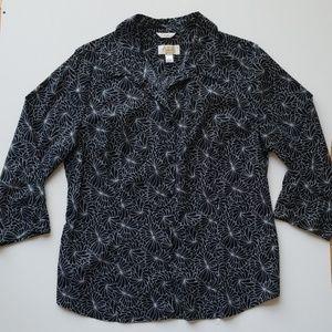 3/4 Sleeve Talbots dress shirt
